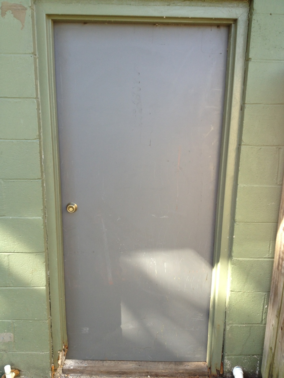 The rear door forcible entry and forcible exit for Rear exterior door